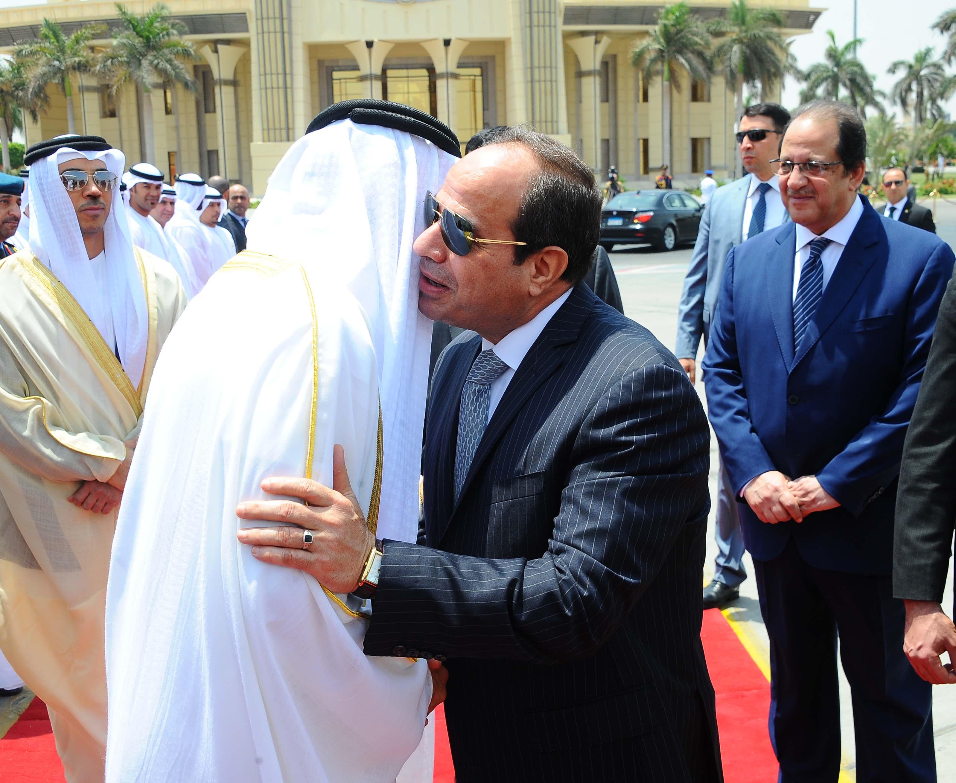 صاحب السمو الشيخ محمد بن زايد والرئيس عبد الفتاح السيسي