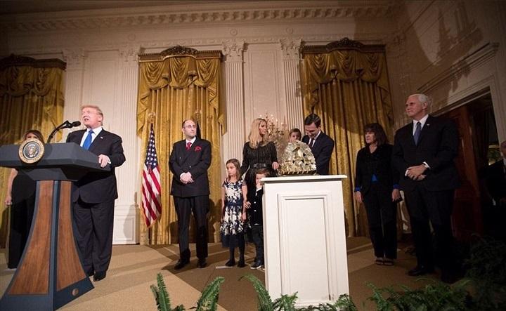 ترامب خلال حفل بالبيت الأبيض