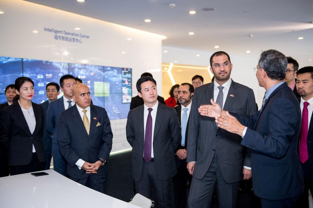 الدكتور سلطان بن أحمد الجابر مع وزير الخارجية الصينى