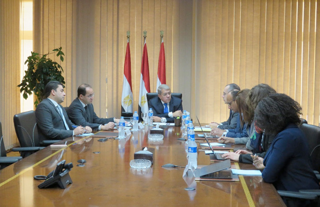 استقبال وزير المالية المصري لوفد من المنظمة الدولية الفرانكفونية
