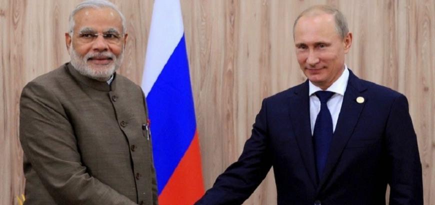 الرئيس الروسى بوتين ورئيس الوزراء الهندى مودى