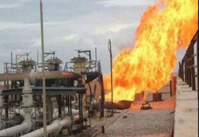 خط أنابيب النفط الذي تعرض لتفجير