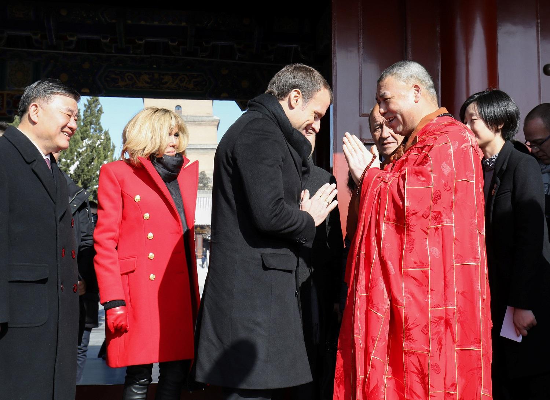 الرئيس الفرنسى خلال زيارته للصين