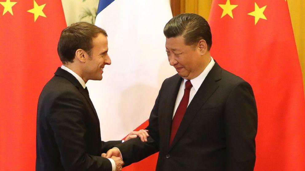 ماكرون ونظيره الصينى شي جينبينج