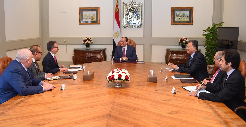 الرئيس المصرى خلال اللقاء