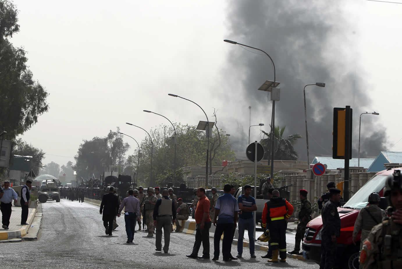 صورة أرشيفية لإحدى العمليات الإرهابية فى بغداد
