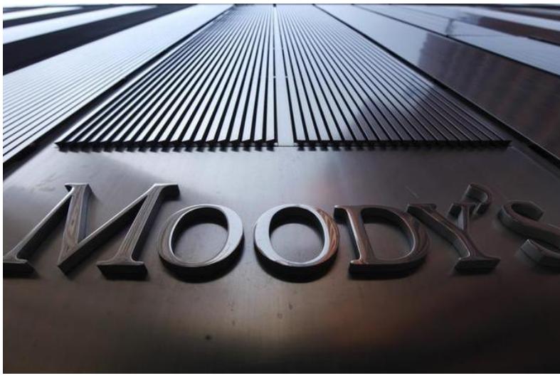 شعار موديز على مقرها في نيويورك.