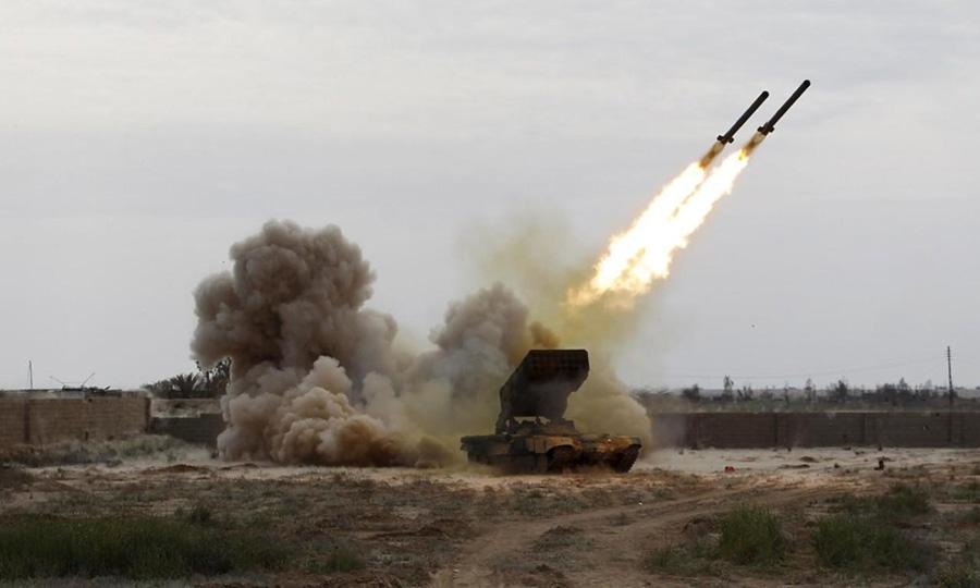 قصف صاروخى على مديرية حيس