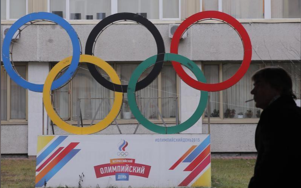 الشعار الأولمبي أمام اللجنة الأولمبية الروسية
