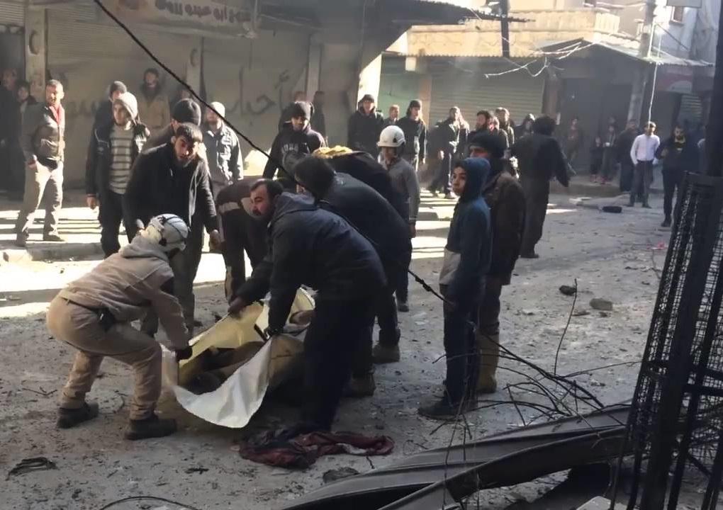 سقوط جرحى من بينهم أطفال جراء دوي انفجارات وقصف في حلب