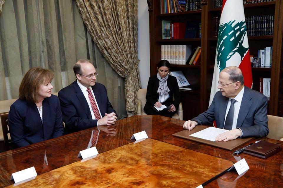 عون يلتقي مساعد وزير الخزانة الأمريكي