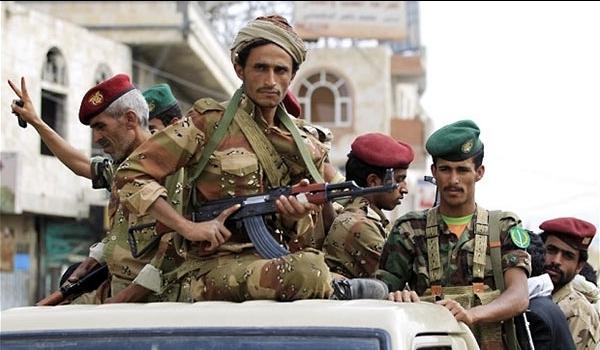 عناصر من قوات الجيش اليمنى