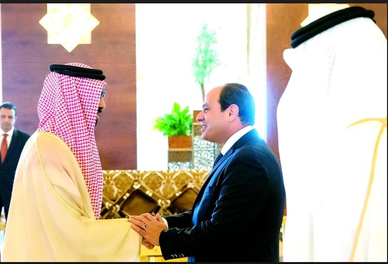 محمد بن زايد و الرئيس المصري