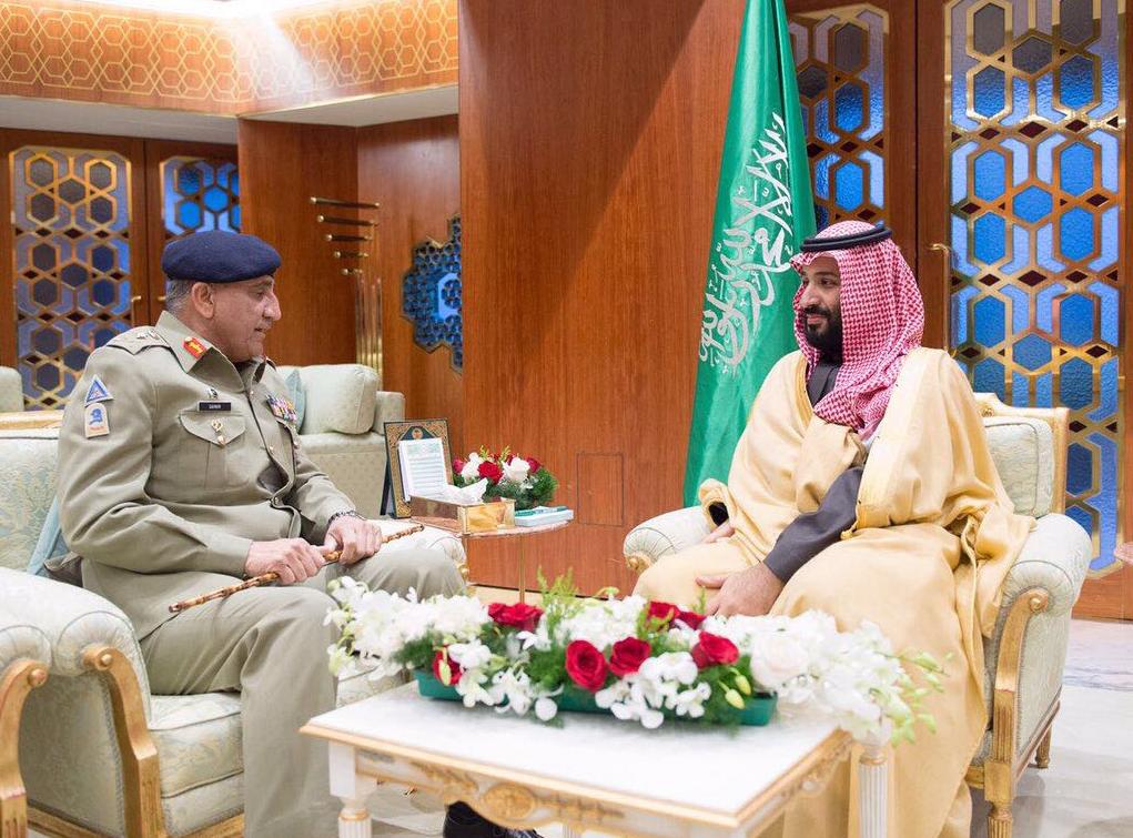 ولي العهد السعودي وقائد الجيش الباكستاني يبحثان التعاون العسكري