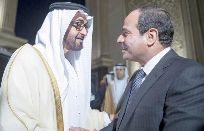 الشيخ محمد بن راشد يستقبل السيسى