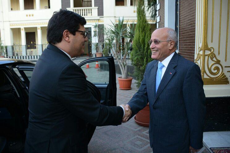 الدكتور محمد سعيد العصار يستقبل وزير الدولة للعولمة البرتغالي