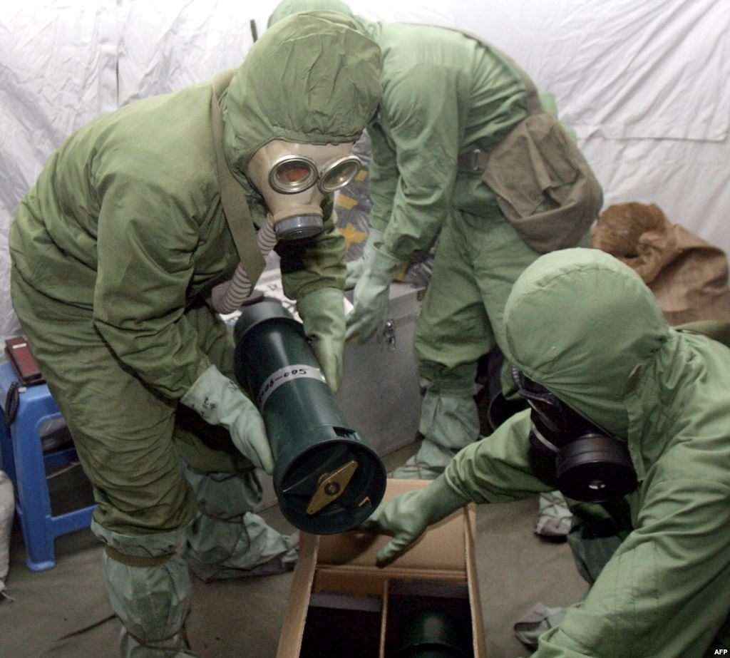 صورة ارشيفية .. الأسلحة الكيماوية