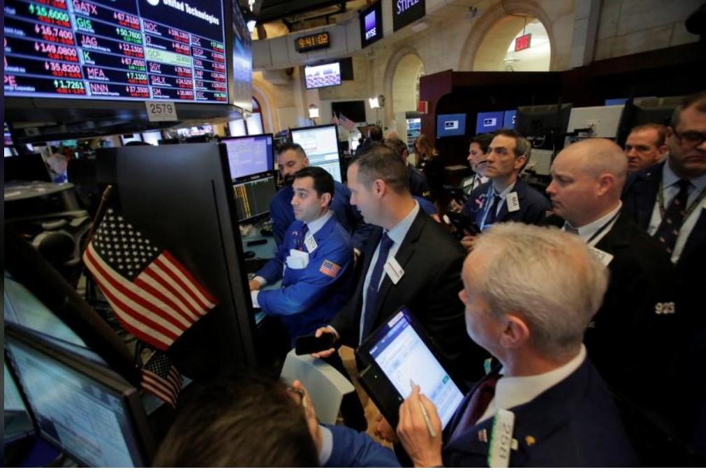 متعاملون في بورصة نيويورك للأوراق المالية