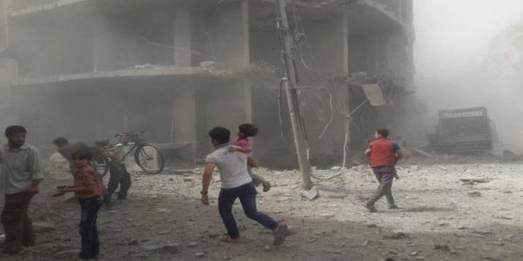 القصف الغوطة الشرقية بسوريا