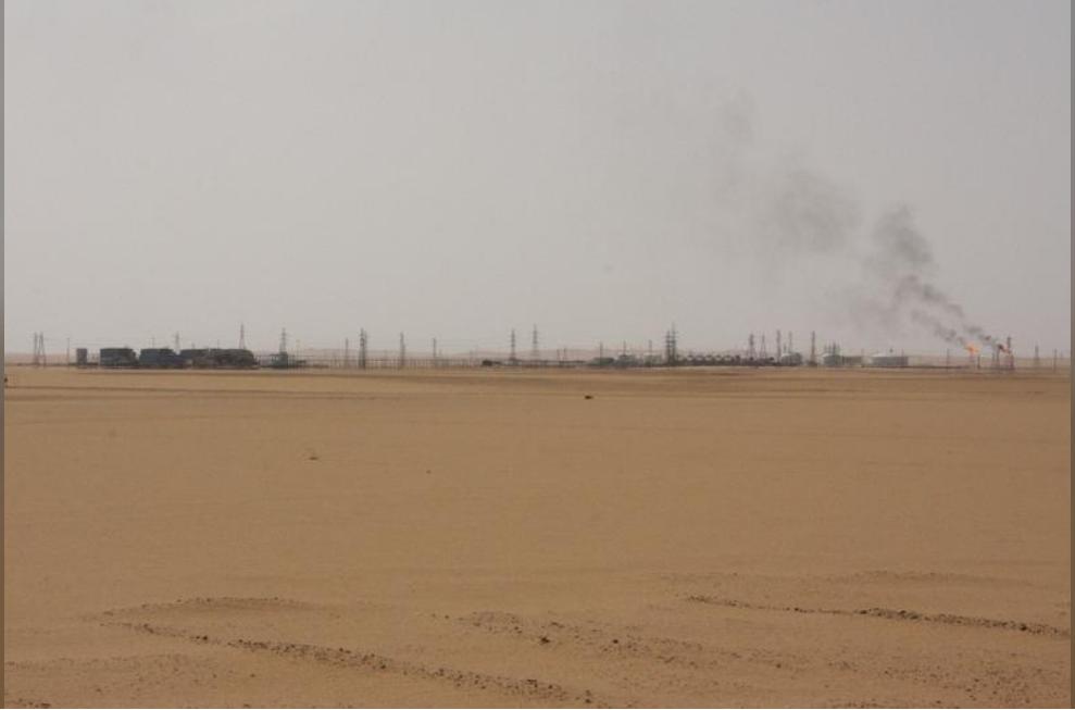 منظر عام لحقل الشرارة الليبي