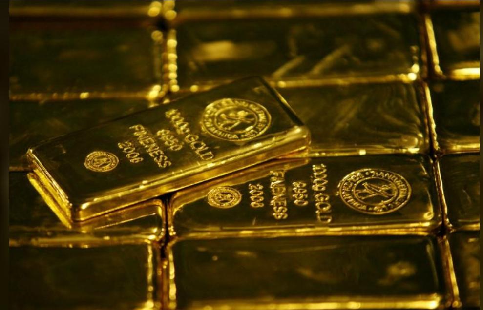 سبائك من الذهب في جنوب افريقيا