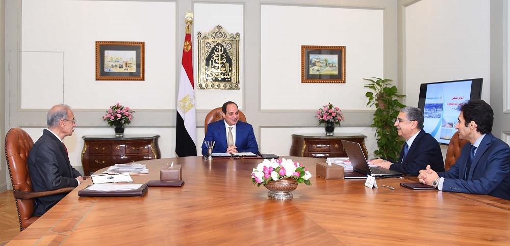 تفاصيل اجتماع السيسي مع رئيس مجلس الوزراء ووزير الكهرباء