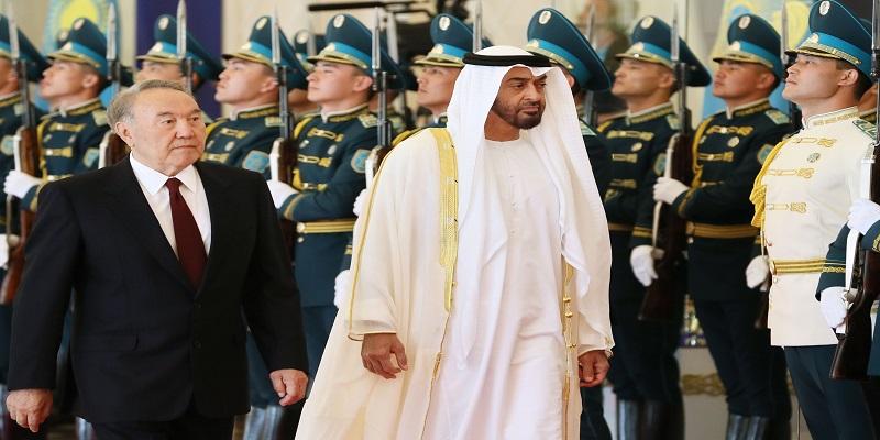 استقبال ولى عهد أبوظبى في كازاخستان