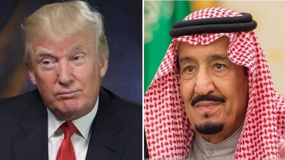 الملك سلمان بن عبدالعزيز والرئيس الأمريكي
