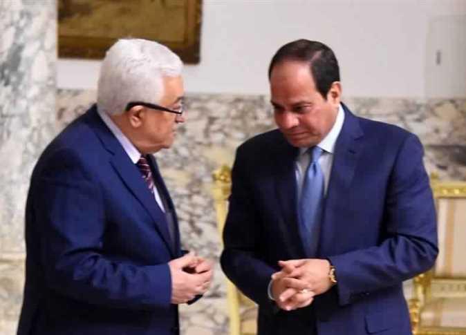الرئيس الفلسطيني محمود عباس والرئيس عبد الفتاح السيسي