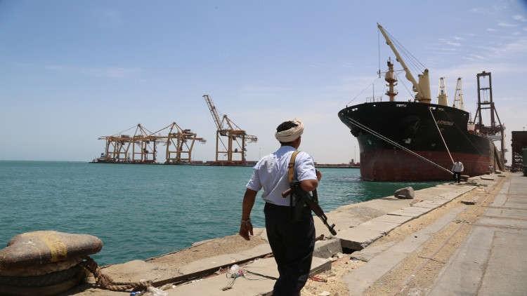 ميناء الحديدة التى تسيطر علية الميليشيات الحوثية