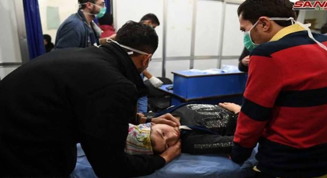 أحد المصابين بغاز الكلور