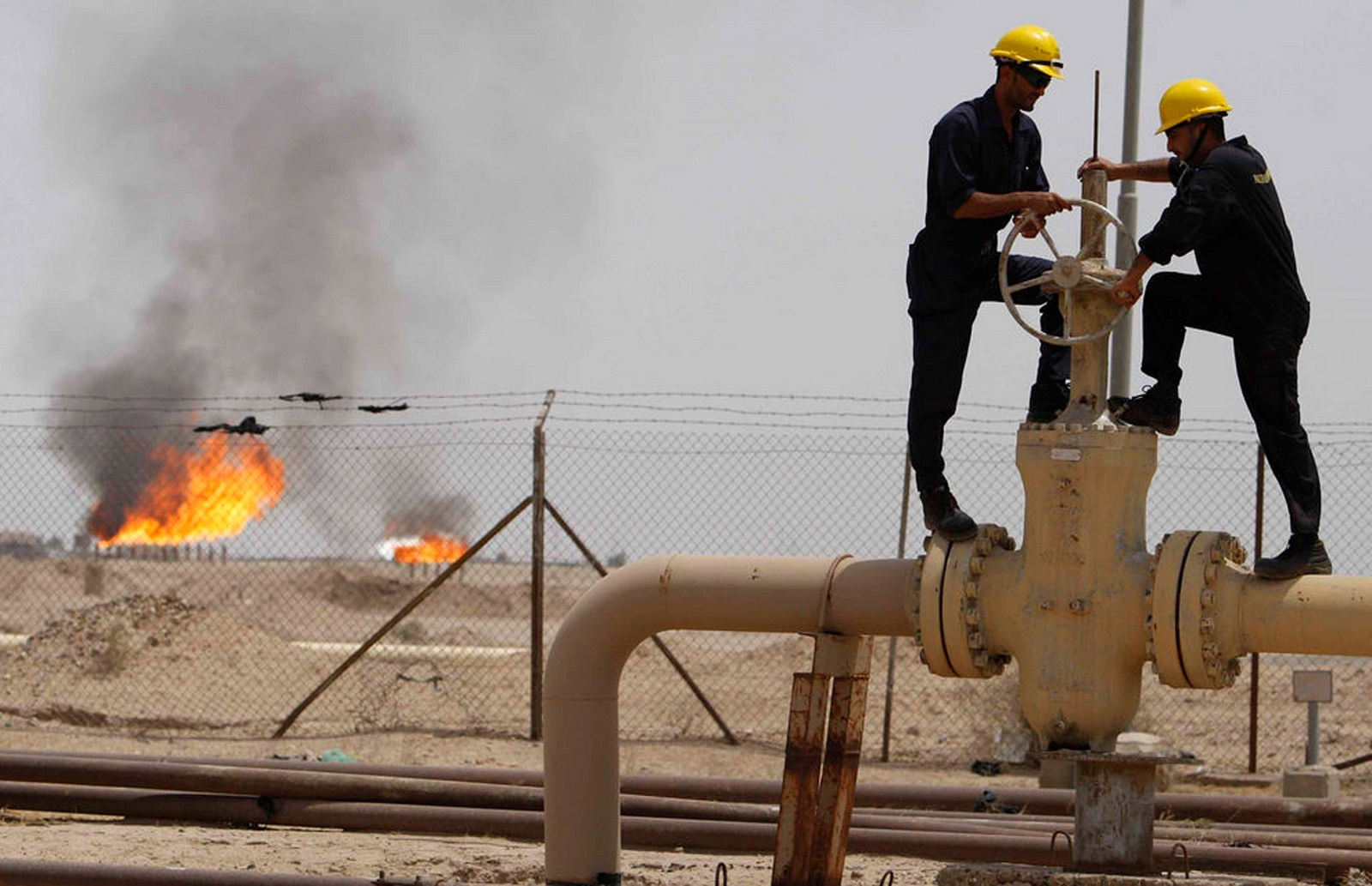أحد حقول النفط في كركوك
