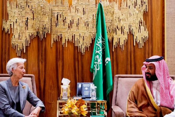 لاجارد والأمير محمد بن سلمان