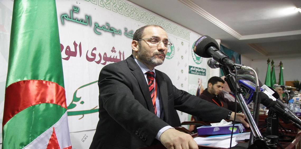 رئيس حركة مجتمع السلم الجزائري عبد الرزاق مقري