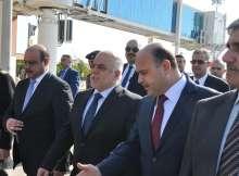 رئيس الوزراء العراقي أثناء وصولة محافظة البصرة