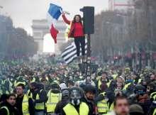 جانب من أحتجاجات باريس_صورة أرشيفية