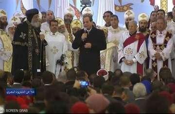 افتتاح الرئيس المصري عبد الفتاح السيسي أكبر مسجد وكاتدرائية في مصر