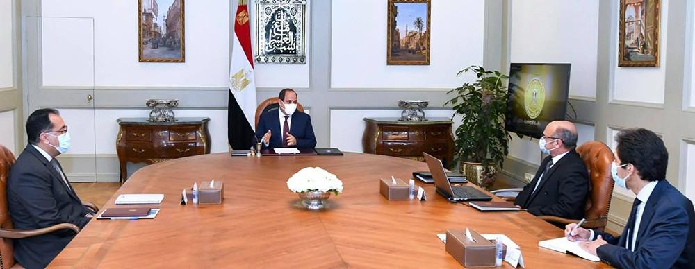 اجتماع الرئيس السيسي مع رئيس مجلس الوزراء ووزير العدل
