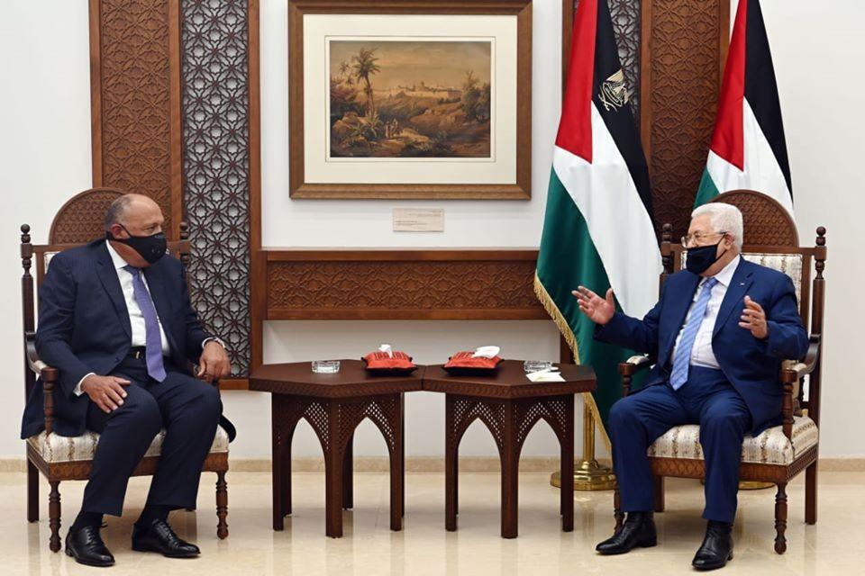 محمود عباس وسامح شكري