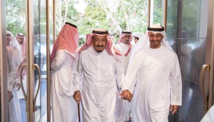 محمد بن زايد والملك سلمان