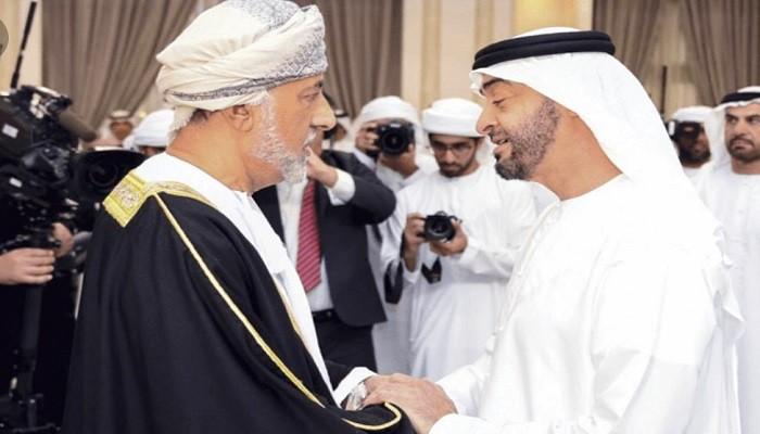 محمد بن زايد وسلطان عمان