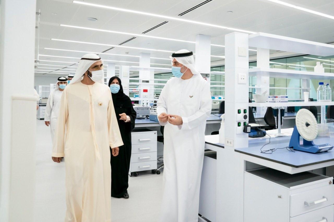 محمد بن راشد في المركز الجديد