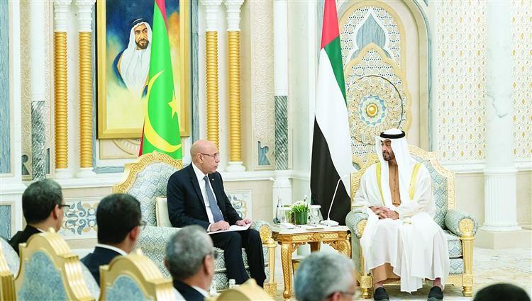 بن زايد والرئيس الموريتاني