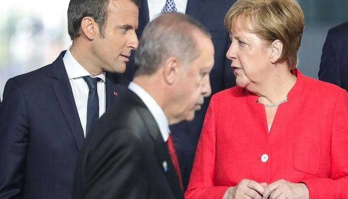 ميركل وأردوغان وماكرون