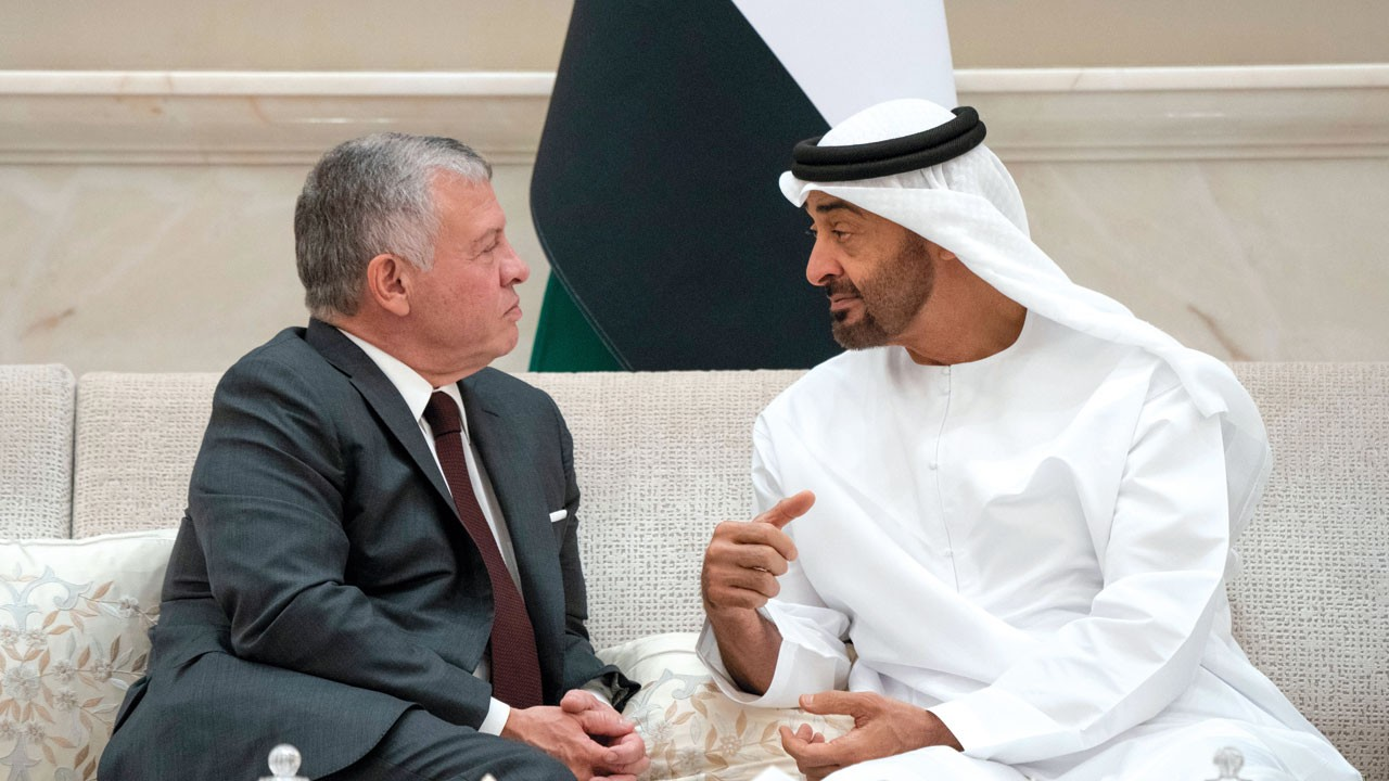 محمد بن زايد وملك الأردن