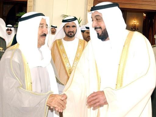 رئيس الإمارات وأمير الكويت