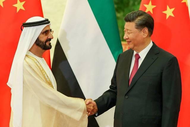 الرئيس الصيني ومحمد بن راشد