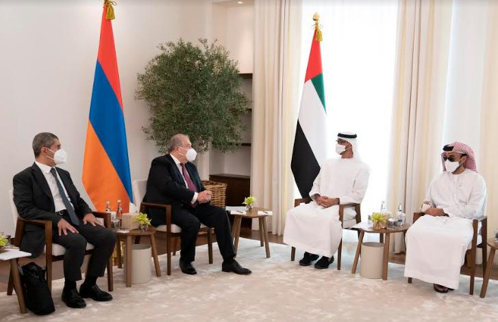 محمد بن زايد ورئيس أرمينيا