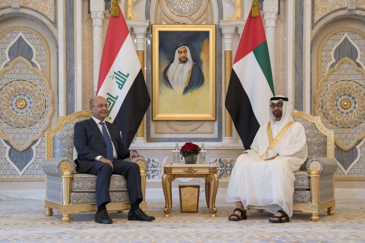 محمد بن زايد والرئيس العراقي
