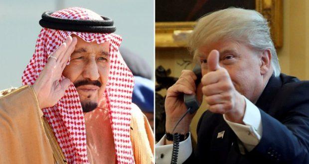 العاهل السعودي وترامب